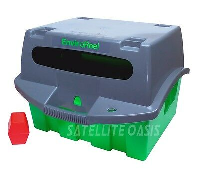 EnviroReel Kit Cable Coax Caddy with Adapter Key (Green) Wire Spool Box