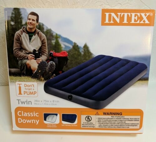 Intex Twin Size Classic Downy Inflatable Air Bed Mattress  B