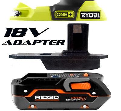 RIDGID Battery Adapter to Ryobi 18v One+ Works with Ryobi 18