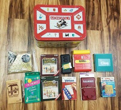 11 Vintage Travel Games Connect Four 4 Yahtzee Clue Pig Pass Hangman Outburst