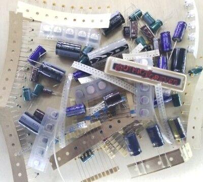 250 Pcs - Capacitors - Electrical Component Grab Bag Assortment Diy Or Arduino