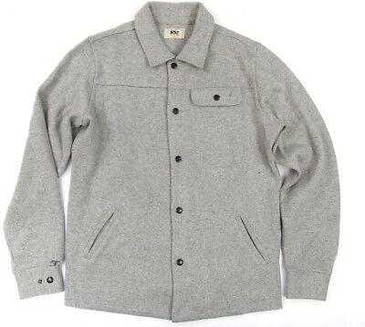 Lightning Bolt Heather Grey Snap  Button Sweater Surf Bolt Cotton & Wool ()