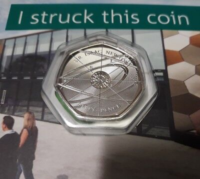 2018 50P SIR ISAAC NEWTON FIFTY PENCE I STRUCK THIS COIN STRIKE YOUR OWN RARE