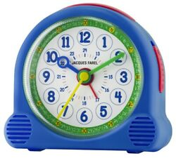 JACQUES FAREL Kids' Alarm Clock Alarm Clock Happy Analog Quartz Boys Acl 04 Blue
