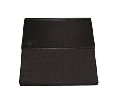 """Large BLACK Rubber Stamp Felt Ink Pad Size #2 (6-1/4"""" x 3-1/4"""")"""