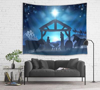 Jesus Nativity Venus Wise man Wall Hanging Room Tapestry Bedspread Dorm Decor