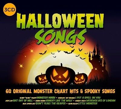 HALLOWEEN SONGS FEAT. ALICE COOPER, MEAT LOAF, RUSH ETC. 3 CD NEW!  (Song Halloween 3)
