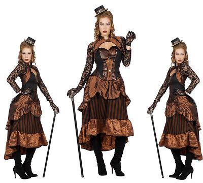 Retro Steampunk Kostüm Dame - Victoria  - Steam Punk Gr. 38-48 Steampunkkostüm