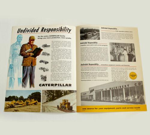 Original Caterpillar Tractor Equipment Flyer Brochure Michigan