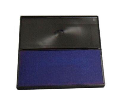 4 Stamps Felt Ink Pad - Large BLUE Rubber Stamp Felt Ink Pad Size #2 (6-1/4