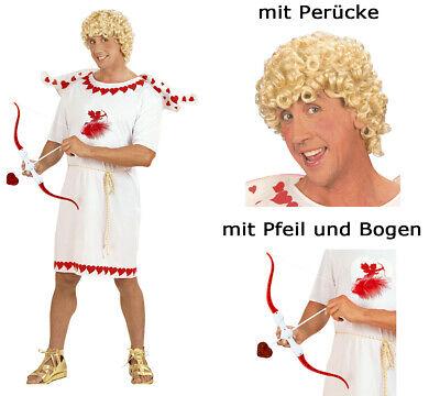 Kostümset Cupid - Amor Gr. M - Glücksbote Amorkostüm Set mit Perücke + - Amor Pfeile Kostüm