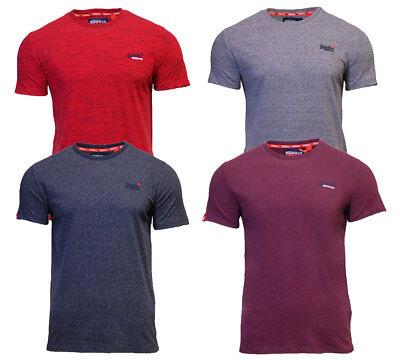 Superdry Mens New Orange Label Vintage Embroidered T Shirt Blue Red Burgundy