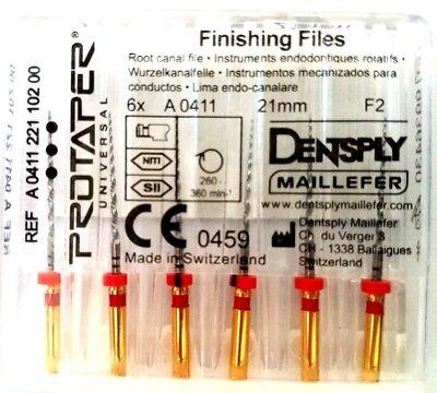 Dental Dentsply Rotary Protaper Universal Engine Niti Files 21 Mm F2.