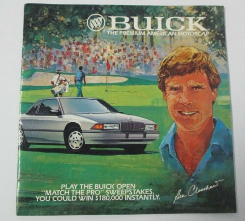 1989 BUICK OPEN Auto and Golf Advertising Booklet, Ben Crenshaw Cover