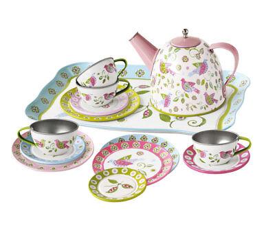 Kinder Tee Service im Koffer Puppen Geschirr, Blechgeschirr, Set - 8162