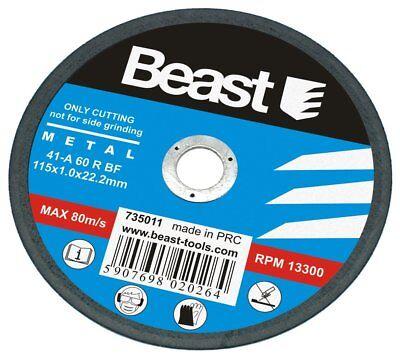 Disco de Corte para Metal / Acero 115 x 1 mm. Amoladora...