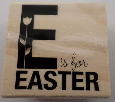 Craft Smart E Is For Easter Holiday Woodern Rubber Stamp