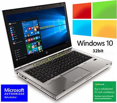 HP LAPTOP ELITEBOOK 8460p i5 2.5GHz 3GB DVDRW WEBCAM WINDOWS 10 32bit WiFi PC HD