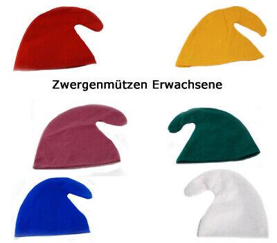 Zwergenmütze für Erwachsene - Zwergen Hut Mütze - Gnommütze - Zwerg