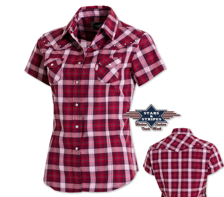 """Western-Bluse """"Doreen"""" / Karobluse / Show-Shirt mit Strass - Gr. XL *** SALE ***"""