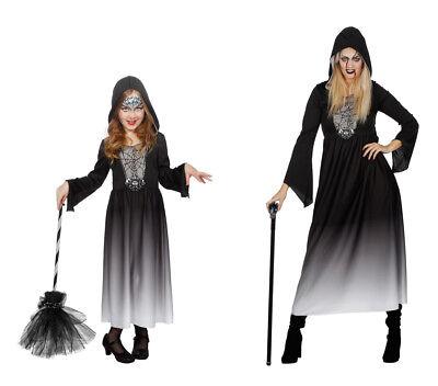 Halloween Kleid mit Kapuze Kostüm Gr. 128 cm bis XL Damen Wilbers Fasching