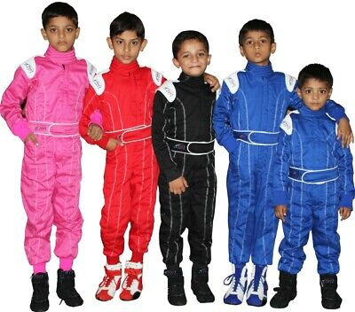 Child - Karting Go Kart Race Rally suit Poly cotton One Piece Overall  Kart Racing Suits
