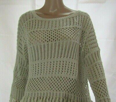 Cotton By Autumn Cashmere Tan Poncho Size S Autumn Cashmere Cashmere Poncho