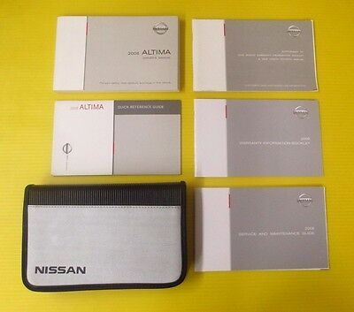 Altima 08 2008 Nissan Owner's Owners Manual Set W/ Case & Supplements 2.5 Sedan