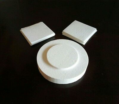 Microwave Kiln Base and Kiln paper for Home Glass Fuse Work