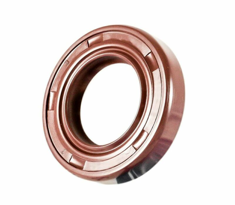 EAI Viton Oil Shaft Seal 18x29x7mm Grease Dbl Lip w/ Stainless Steel Spring