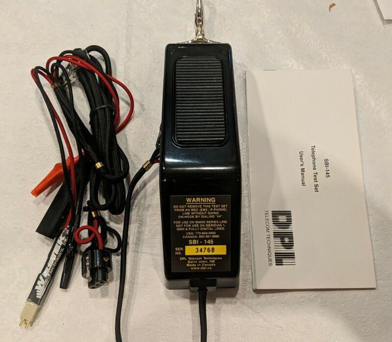 DPL Group Telephone Test Set w/manual SBI-145 (GB1) incl TC2312V line cord *pics
