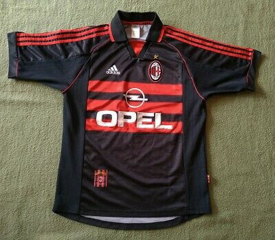 AC MILAN ITALY 1998/1999 AWAY THIRD FOOTBALL SHIRT JERSEY M SIZE ADIDAS OPEL
