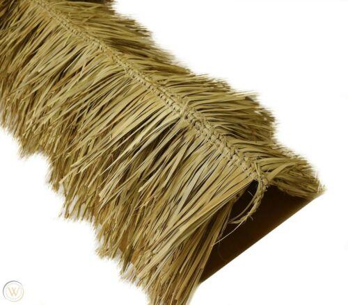 "* 30""x 12ft Mexican Tiki Palm Grass Thatch Ridgecap Tiki Hut Roof Ridge Topper"