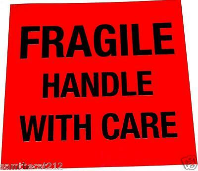 500 Fragile Label  Big 1.5 Square  Best Price Free Shipping