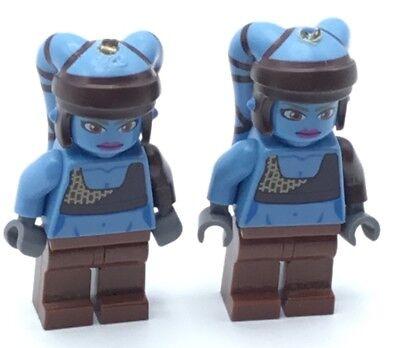 Jedi Braids (LEGO LOT OF 2 STAR WARS MINIFIGS WITH KEYCHAIN REMOVED JEDI GIRL BLUE)