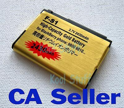 Gold High Capacity F-S1 FS1 battery 2430mAh for BlackBerry Torch 9800 9810