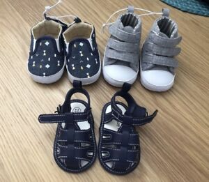 Brand New 3 x Baby Shoes 0-3 months  cc0c411ef6b5