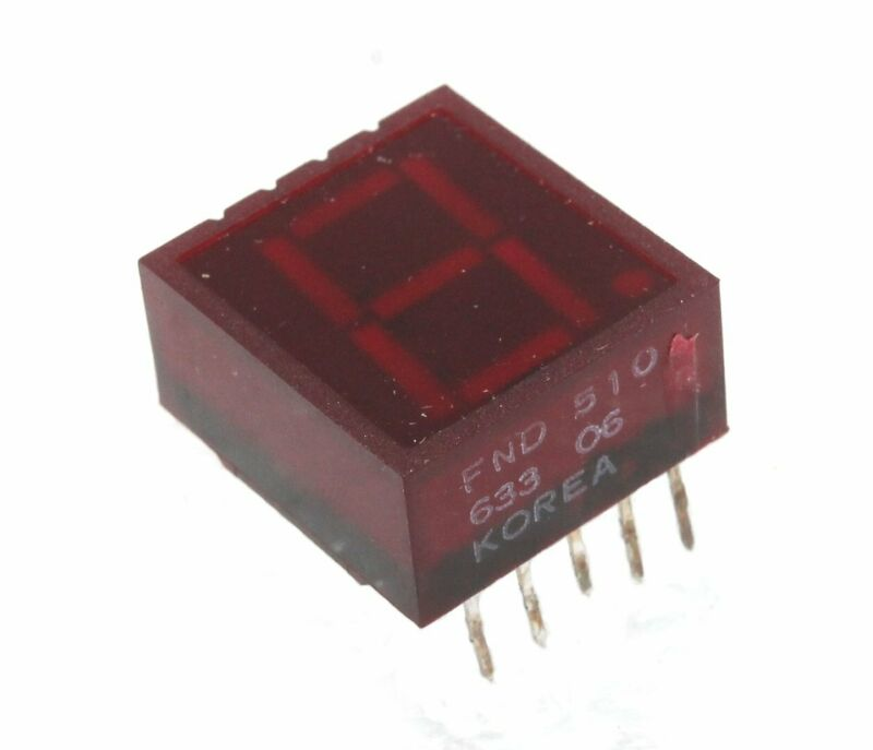 7-Segment Common Anode LED Red 1-Digit Display,