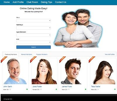 Dating Service Website Business For Sale Mobile Friendly Design