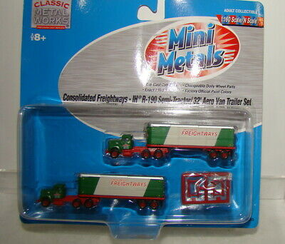 N Scale Mini Metals Consolidated Freightways Tractor Trailer Set MOC* for sale  Shipping to India