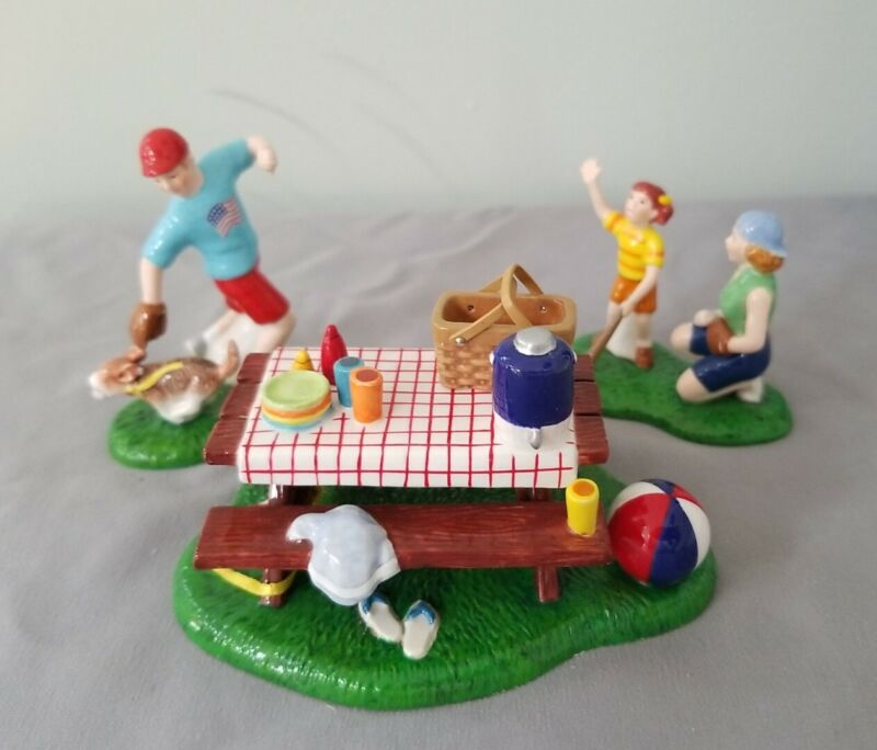Department 56 snow village accessory summertime family picnic  26