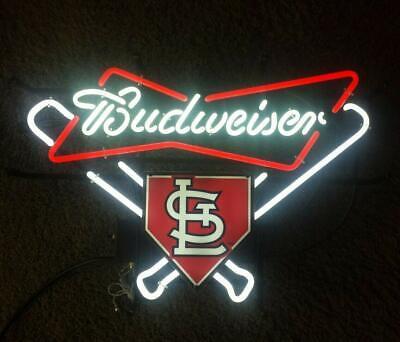 Budweisers St Louis Cardinals Neon Sign 20