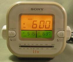 Sony ICF-C180 AM FM Dual Alarm Clock Radio - Beige Or Tan w/ Cream Buttons