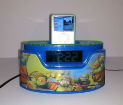 Viacom 2012 Teenage Mutant Ninja Turtles Radio Alarm Clock Speaker iPod Player