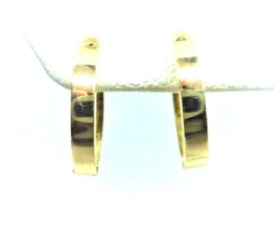 14Kt Pure Solid Yellow Gold Small 11MM Huggie Earrings.........100% Guaranteed! 14kt Solid Yellow Gold Earring