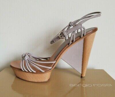 Unique Platform Shoes ($710 SERGIO ROSSI Unique Wooden Heels Clogs Platform Sandals 36 39 I LOVE)