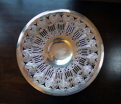 "10.75"" FOOTED CAKE PLATE ART DECO  - FARBER BROS KROME KRAFT SHEFFIELD"