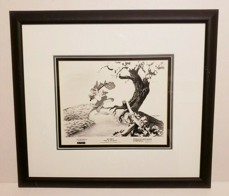 Disney Song of the South Lobby Card Publicity Still Print Matted and Framed