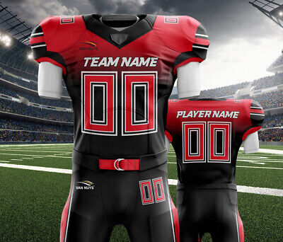 0b1475fb6 Custom American Football Uniforms Sublimation 11 Set Jersey and Pant Adult  youth