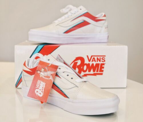 Vans Old Skool X David Bowie Aladdin Sane True White Red Blue Size Men 6.5 NEW